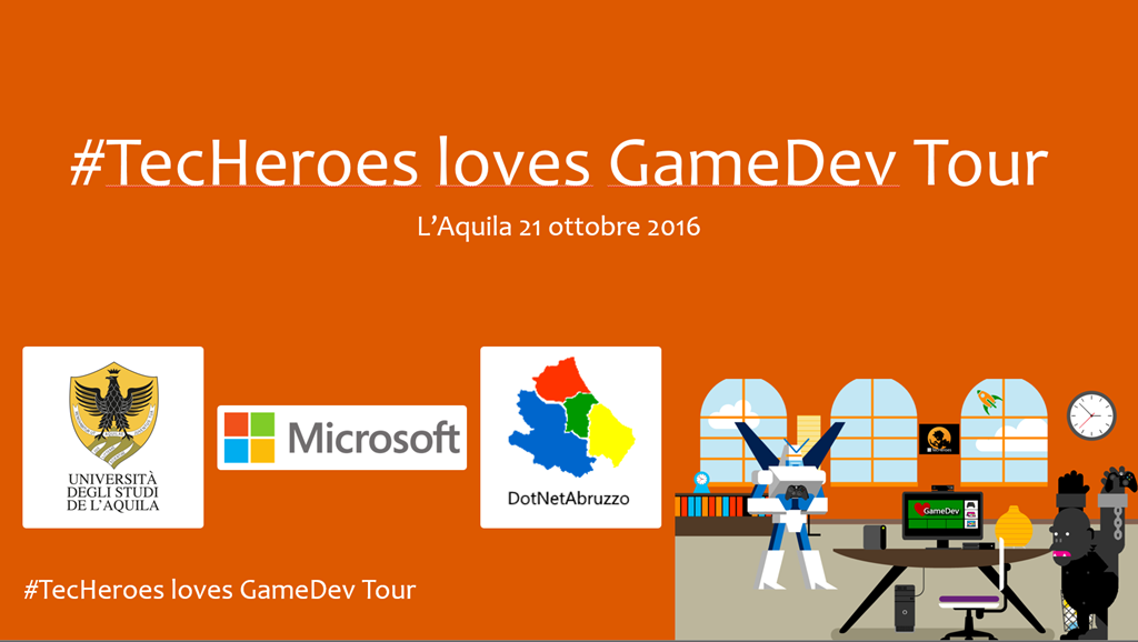 TecHeroes loves GameDev Tour L'Aquila